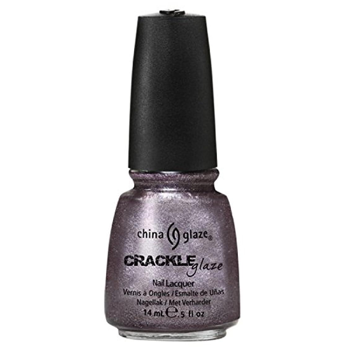 ごちそう竜巻窓を洗う(6 Pack) CHINA GLAZE Crackle Metals - Latticed Lilac (並行輸入品)