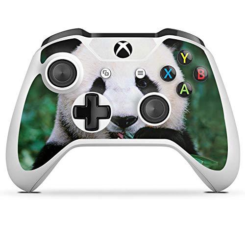 DeinDesign Skin kompatibel mit Microsoft Xbox One S Folie Sticker Panda Bär Bambus