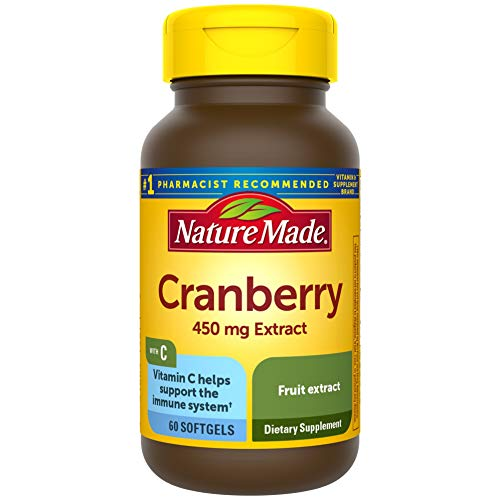 Nature Made Cranberry + Vitamin C Softgels, 60 Count (Packaging May Vary)