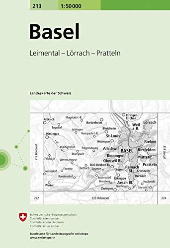 213 Basel: Leimental - Lörrach - Pratteln (Landeskarte 1:50 000)