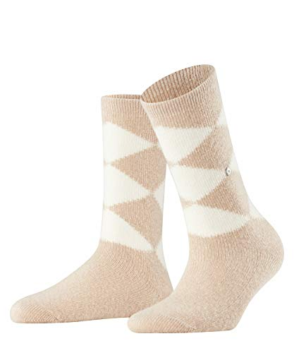 Burlington Cosy Argyle Damen Socken cafe latte (4360) 36-41 mit wärmender Wolle