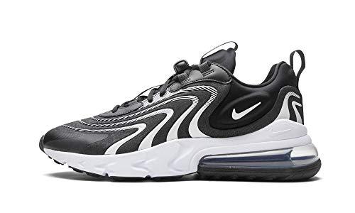 Nike Air Max 270 React ENG, Scarpe da Corsa Uomo, Black/White-Dk Smoke Grey-Wolf Grey, 41 EU