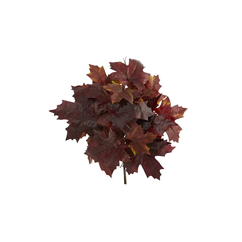 silk flower arrangements nearly natural 18in. autumn maple leaf artificial flower (set of 2), red