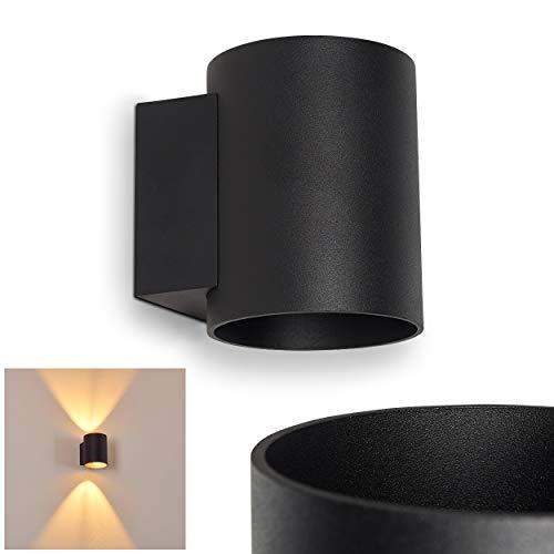 Wandlamp Letsbo van metaal in zwart, moderne wandlamp met lichteffect, 1 x G9 fitting, max. 40 Watt, binnenwerklamp met op en neergaande werking, geschikt voor LED-verlichting