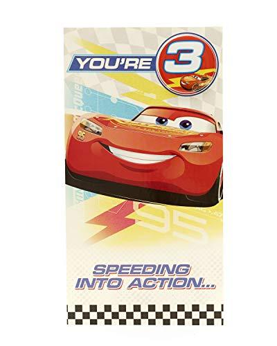 Carlton 797214–0Disney Cars zum 3. Geburtstag Karte