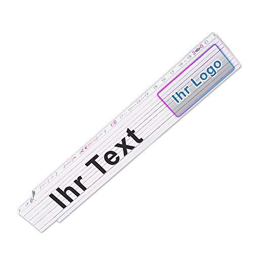 Glieder-Maßstab personalisiert |Zollstock mit Firmen-Logo oder Bild und Wunsch-Text | Meterstab individuell bedruckt