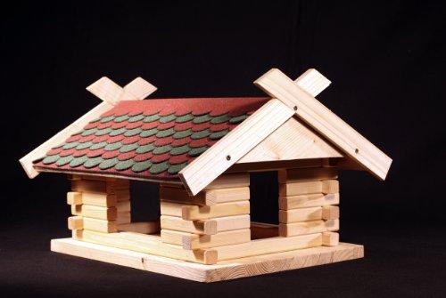 Martinshof Rothenburg Diakoniewerk Vogelhaus Bausatz Herbstlaub Fichtenholz L45 B40 H28cm Schindeln 23.213
