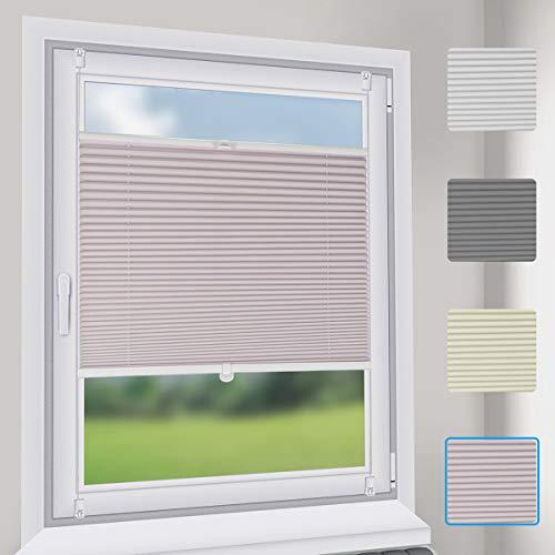 Sekey Plissee Rollo Plissee-Vliesstoffvorhang Khaki B40cm x H130cm für Tür & Fenster Blickdicht Sichtschutz Sonnenschutz Fertifplissee