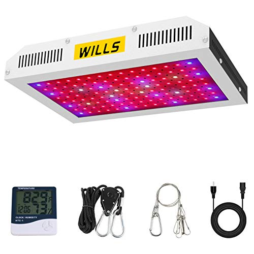 LED Grow Lights, WILLS Upgraded 1200W Plant Growing Light Full Spectrum with Veg and Bloom Switches for Indoor Hydroponic Greenhouse Growing (10W LEDs 120Pcs)