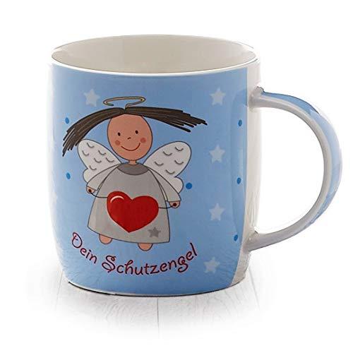 Heaven and Angels Schutzengel Tasse (zartes blau) - Geschenkidee von heavenandangels - Glücksengel Glücksbringer Schutzengeltasse Engel Kaffee Tee Teebecher Kaffeetasse Becher