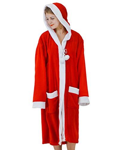 バスローブ レディース メンズ ガウン フランネル バスタオル お風呂上がり フランネル 部屋着 もこもこ あったか ルームウェア クリスマス 男女兼用 サンタクロース 吸水 通気 速乾 保温 かわいい サンタクロース XL