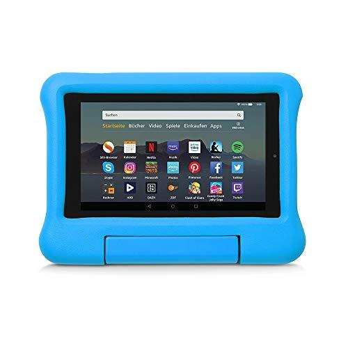 Kindgerechte Hülle für Fire7-Tablet, kompatibel mit der 9.Generation (2019), Blau