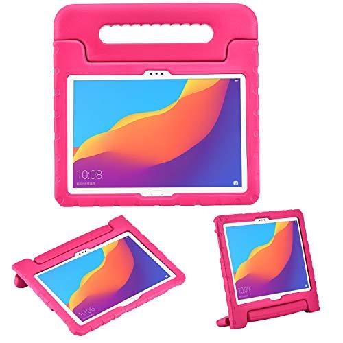 cradle HR Carcasa protectora para niños para Huawei MediaPad T5 10 de 10,1 pulgadas y Huawei Honor Play Pad de 10,1 pulgadas (magenta)