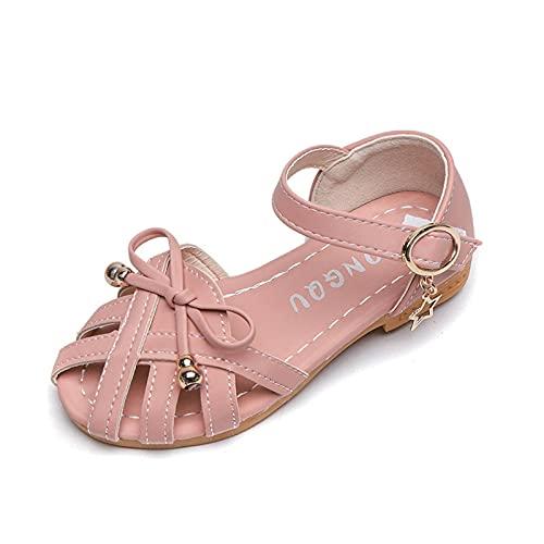 Sandalias para niños Zapatos de verano para niños 2021 Nueva Princesa Corte Caliente Dulce Sandalias de Cuero Suave Con Pajarita 21-35