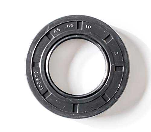 EAI Oil Seal 45mm X 80mm X 10mm TC Double Lip w/Spring. Metal Case w/Nitrile Rubber Coating