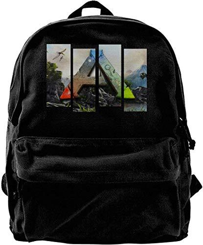 Canvas Rucksack, Ark Survival Evolved Laptop Backpack,Business Travel Anti Theft Slim Durable Laptops Backpack,College School Computer Bag for Women & Men - Black