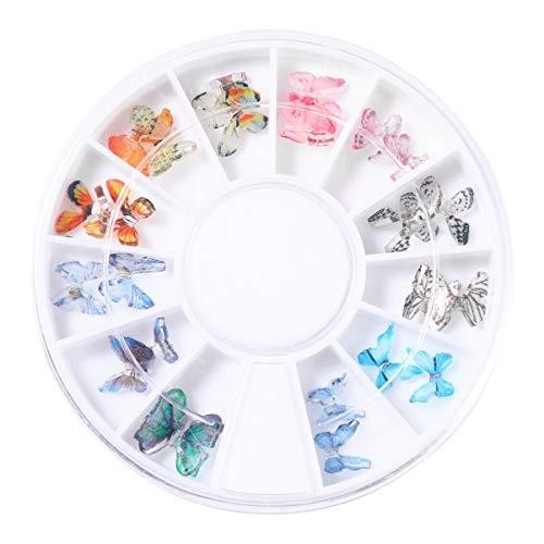 Pixnor Beaux Charmes à Ongles 1 Boîte 3D Bel Autocollant à Ongles Décoration Acrylique Nail Art pour Salon Et Maison