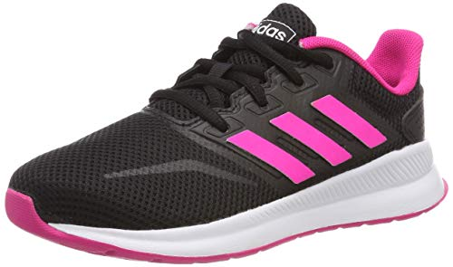 adidas RUNFALCON K, Scarpe da Running Bambino, Mehrfarbig (Core Black/Shock Pink/Ftwr White Ee4669), 35 EU
