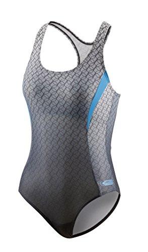 Preisvergleich Produktbild Beco Beermann Damen Schwimmanzug Competition Badeanzug,  Silber / Grau,  38