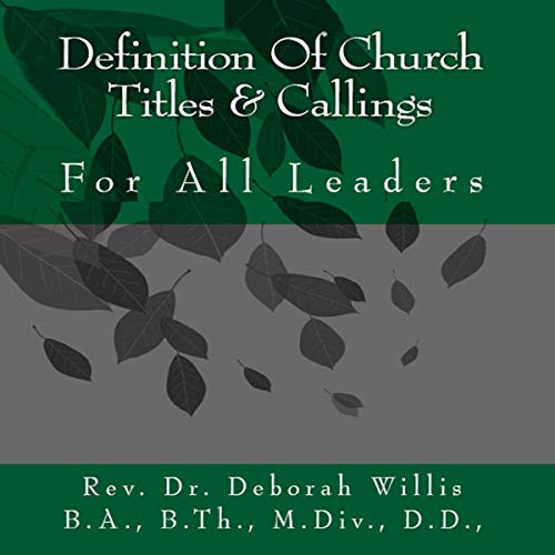Definition of Church Titles & Service audiobook cover art