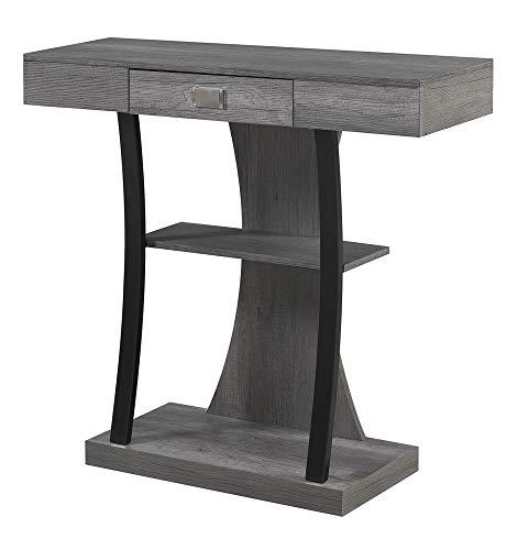 Convenience Concepts Newport Harri Console Table, Charcoal Gray