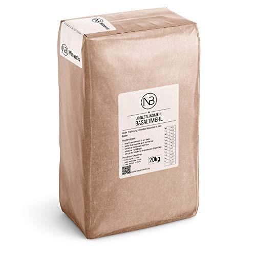 NB Minerals Basaltmehl Urgesteinsmehl Basalt Powder Vulkanstaub Mineraldünger 20kg Dünger