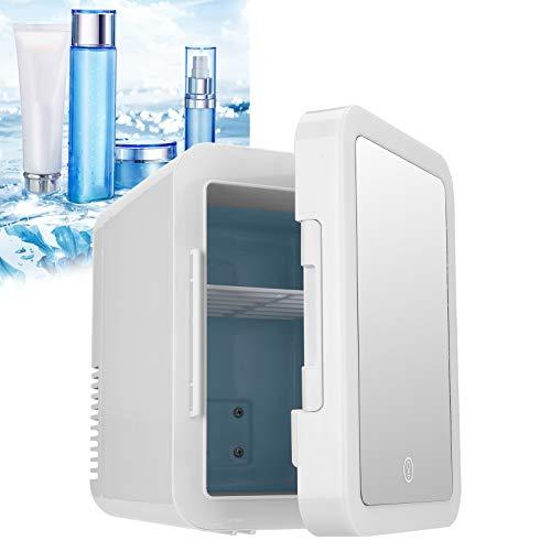 Asixxsix Refrigerador de cosméticos, refrigerador y Calentador eléctrico, Cuidado de la Piel Exquisito 4L Completamente Cerrado para el Coche de Leche del Dormitorio