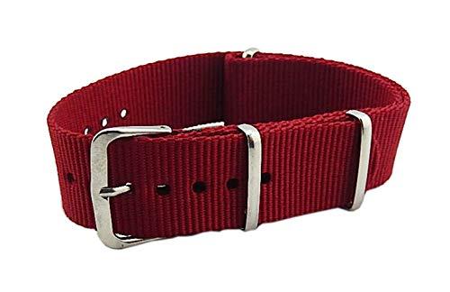 20 millimetri scuri durevoli di nylon robusto cinturini stile bande rosso sostituzioni per gli uomini