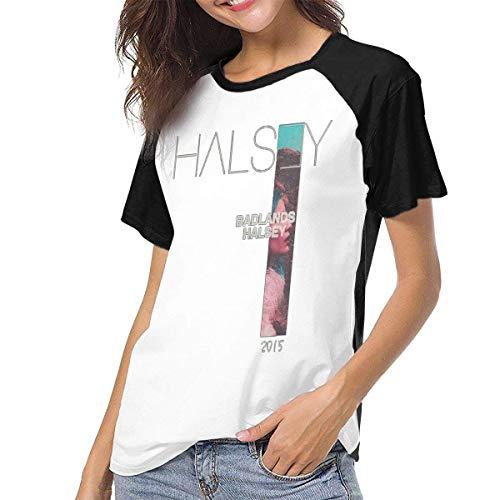 Bagew Damen T-Shirt Mit Rundhalsausschnitt, Raglan Baseball T-Shirt Halsey-Badlands Printed Crew Neck Casual Tee Tops