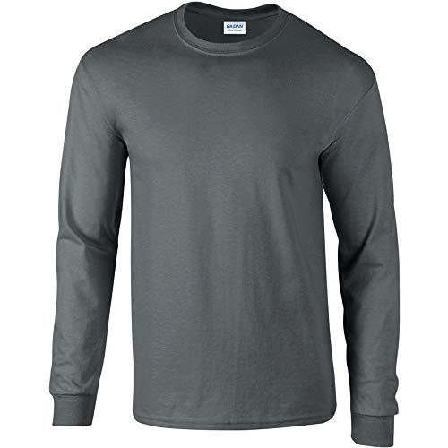 Gildan - T-Shirt à manches longues - Homme noir Anthracite Medium