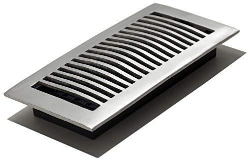 Decor Grates LA410-NKL 4-Inch by 10-Inch Aluminum Floor Register, Nickel