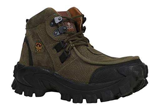 Woodland Men's Olive green Leather Boot-8UK (42 EU) (GB 0433107Y15)