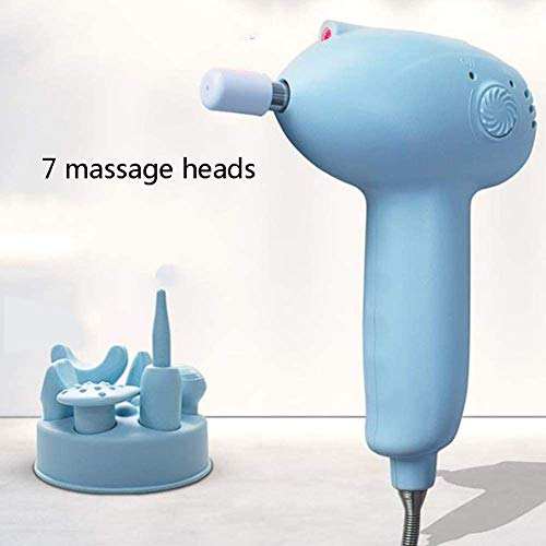 New Gymqian Bone Network Machine Fascia Gun Muscle Massage 7 Massage Heads High Frequency Vibration ...