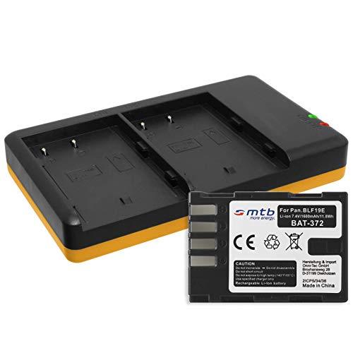 Batería + Cargador Doble (USB) para DMW-BLF19, BP-61 / Panasonic Lumix DC-GH5 / DMC-GH3, GH4 / Sigma SD Quattro (H) - Contiene Cable Micro USB