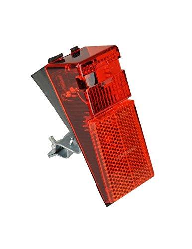 FISCHER Fahrrad LED-Rückleuchte für Schutzblech und Strebenbefestigung | integrierter Reflektor | StVZO zulässig | rot