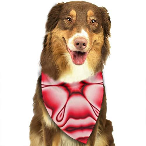 Abstract behang ontwerp textiel rood aangepaste hond kat Bandana driehoek slabbetjes sjaal huisdier geschikt voor kleine tot grote hond katten