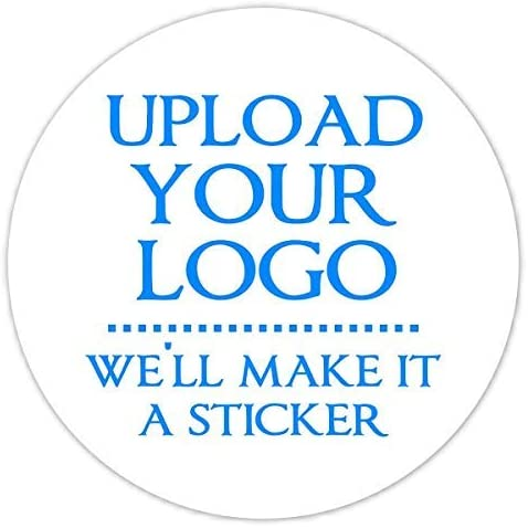 Personalised printed round stickers Postage labels Custom Logo 24mm 1050