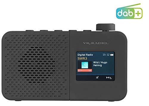 VR-Radio Radio batteriebetrieben: Mobiles Akku-Digitalradio mit DAB+/FM, RDS, Timer, Wecker, Farbdisplay (DAB Radio batteriebetrieben)