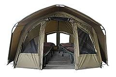 MK-Angelsport 2 personer karp tält med - 3.02×2.92×1.65m stor, vattentät Fort Knox 2.0 Fisketält - 160cm hög inomhusstuga - temperatur stabilt fisketält
