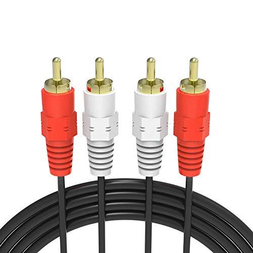 Raitron Gold Plated RCA Audio Cable 2 RCA Male To 2 RCA Mannelijke AV-kabel DVD TV CD Geluid Versterker Zwart
