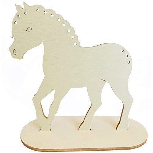 Pony / Pferde-Deko 3er Set, Flechtmotive Größe ca. 14,5 x 15 cm | Stärke 4mm Ideales Set für Mitbringsel Mitgebsel Geschenk Kinder-Geburtstag Mädchen Zimmer-Dekofigur Dekoration Deko-basteln 4007021