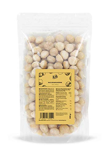 KoRo - Macadamiakerne 500 g - Ganze Macadamiakerne - Naturbelasse Nüsse ohne Zusätze