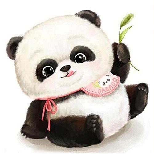 5D Pintura Diamante Painting Kit DIY Taladro Completo Panda de dibujos animados Hada Adultos Niño Punto Cruz Cuadro Grande Puzzle Rhinestone Bordado Art Home Pared Decor Manualidades 40x40cm