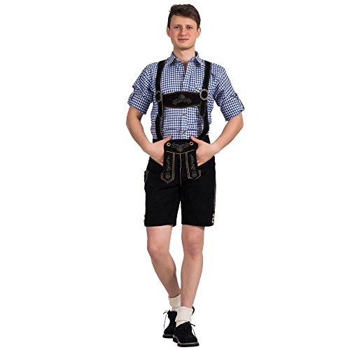 Gaudi-Leathers Jason - Pantalones para Hombre, Negro (Schwarz 050), 46 W