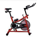 TGSC Smart Game Spinning Bike Home Mute Cyclette Sport al Chiuso Attrezzature per Il Fitness + Comfort di Seduta ergonomico Ergometro a Bordo Computer Legge velocità Distanza Rosso