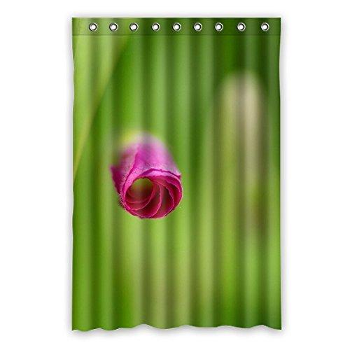 Pure Style Blanc Lanterne design fleurs en tissu polyester imperméable rideau de douche salle de bain décoratif 121,9 x 182,9 cm (120 cm x 183 cm), Polyester, E, 48\