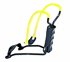 """Extra Wide Fork Flexible Wrist Support Provides Steady Stable Support Then Folds Away Shoots 1/4"""" or 3/8"""" steel and 1/2"""" glass shot Black solid steel frame with extra-wide forks Durable, surgical-grade tubing and rugged release pouch delivers plenty ..."""
