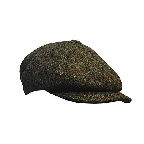 Failsworth Carloway 100% Wolle Harris-Tweed-Mütze dunkelgrün 59cm - 7 1/4