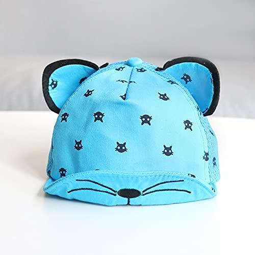 Bonita Gorra para bebé, número, Gorra de béisbol para bebé, Primavera, Verano, niños, Sombrero de algodón para el Sol, Sombreros con Visera para Exteriores-Blue Style 4