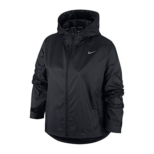 Nike Damen Essential Jacke, Black/Reflective Silv, S